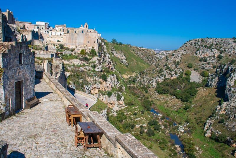 Matera europeisk huvudstad av kultur 2019, Basilicata, Italien royaltyfria foton