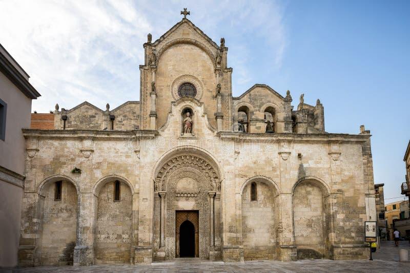Matera gammal stad, UNESCOvärldsarv, europeisk huvudstad av kultur 2019 Basilicata Italien royaltyfria foton