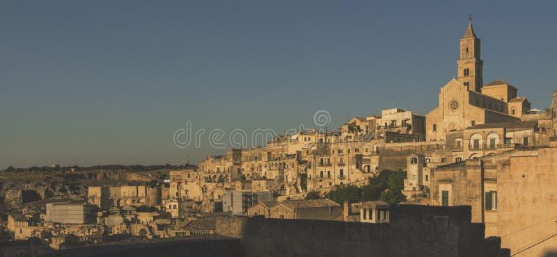 Matera gatastad Italien arkivbild