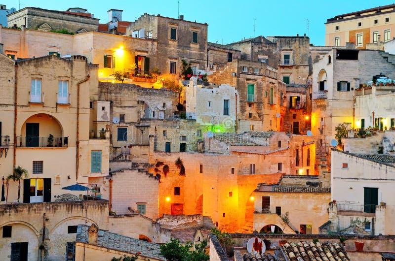 Matera Itália imagem de stock