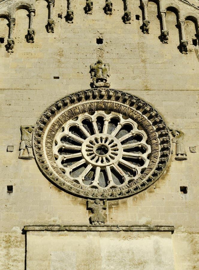 Matera, Itália sul, Basilicata, detalhe de igreja da catedral em Piazza Duomo fotografia de stock royalty free