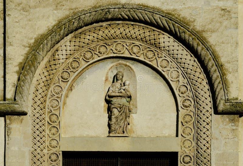 Matera, Itália sul, Basilicata, detalhe de igreja da catedral em Piazza Duomo imagem de stock royalty free