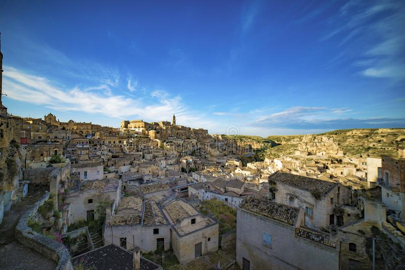 The old town of Matera in southern Italy. stock photos
