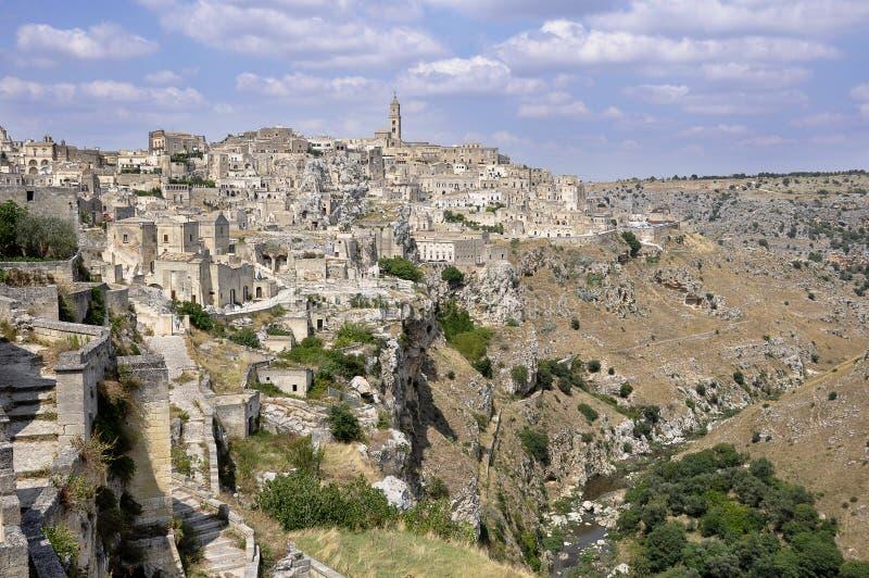 Matera - Italien arkivbilder