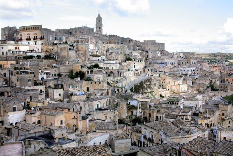 Matera, la ciudad subterránea, Italia imágenes de archivo libres de regalías