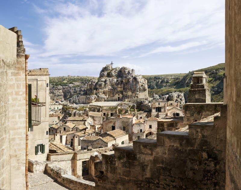 Matera, la iglesia Santa Maria de Idris de la roca imágenes de archivo libres de regalías