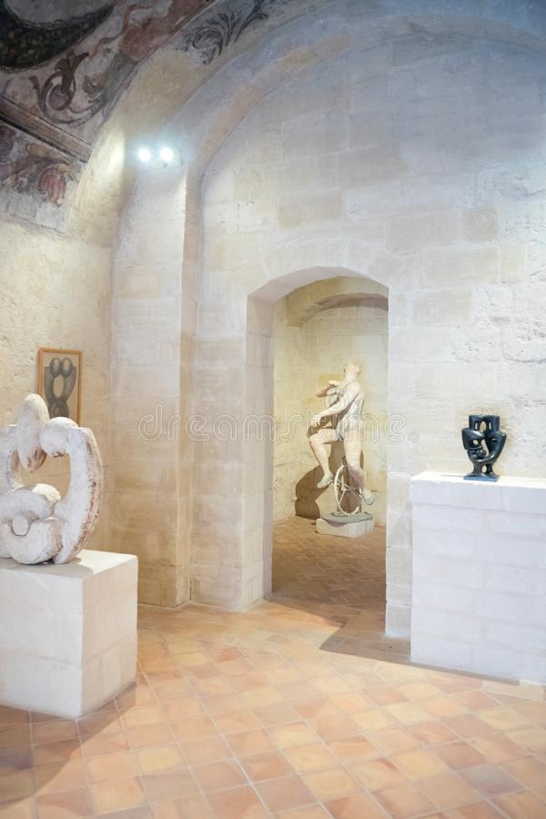 Matera miasteczko rhe Sassi, prehistoryczna troglodyta ugoda obraz stock