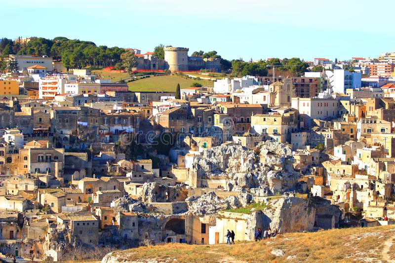 Matera, old town in Italy stock image