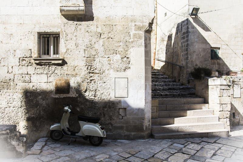 Matera uliczny miasto Włochy zdjęcie royalty free