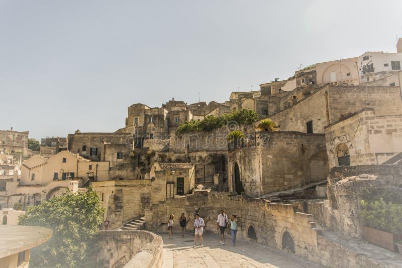 Matera uliczny miasto Włochy fotografia royalty free