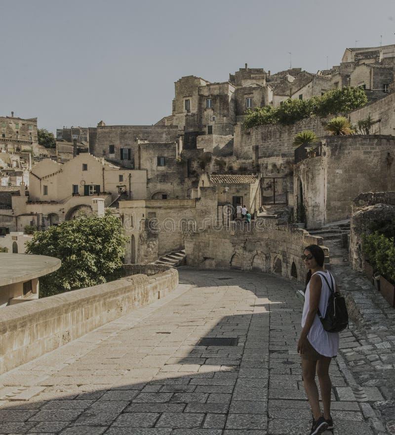 Matera uliczny miasto Włochy obraz stock
