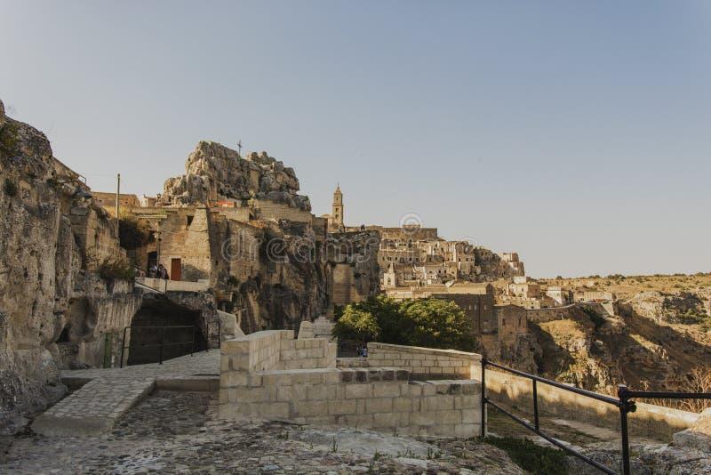 Matera uliczny miasto Włochy obrazy royalty free