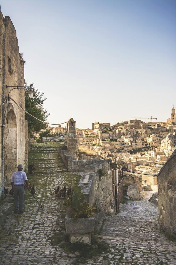 Matera uliczny miasto Włochy fotografia stock
