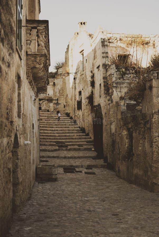 Matera uliczny miasto Włochy obraz royalty free