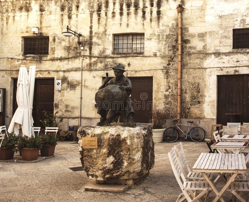 Matera uliczny miasto Włochy zdjęcia royalty free
