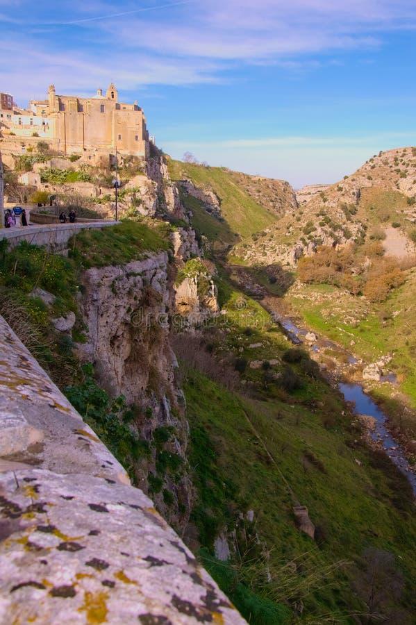 Matera, ville de la culture 2019 photographie stock