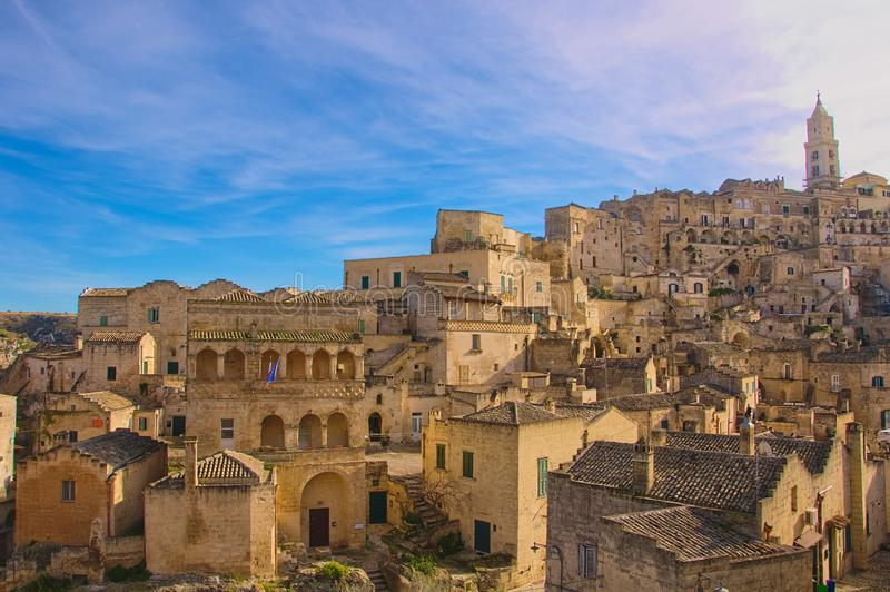 Matera, ville de la culture 2019 images stock