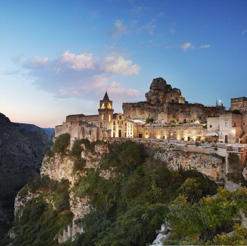 Matera, vista panorâmica do Sasso Caveoso fotos de stock