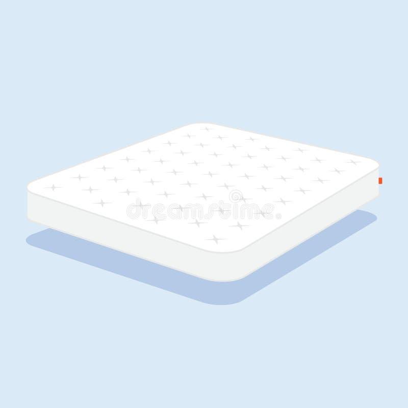 Materasso bianco normale illustrazione vettoriale