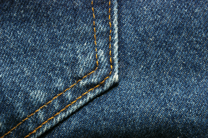 materiał drelichowy ta marka jeansów fotografia stock