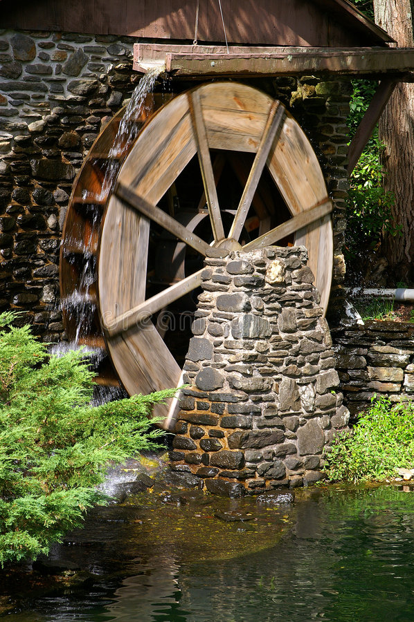 materiał siewny do zmielenia mill koło wodne zdjęcie stock