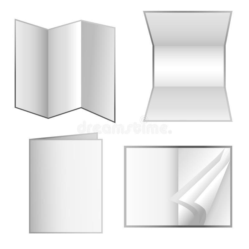 materiały odosobniony papierowy ustalony biel royalty ilustracja