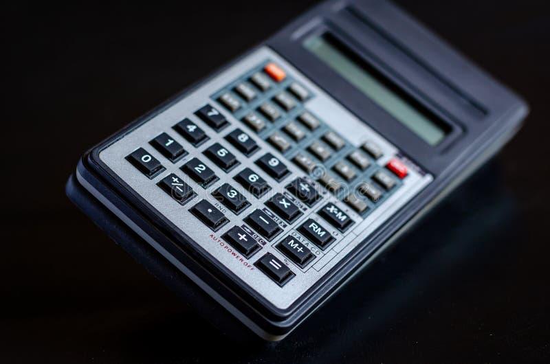 Materiały rzeczy zeszły wiek In?ynieria kalkulator By? mo?e Makro- mi?kkie ogniska, fotografia stock