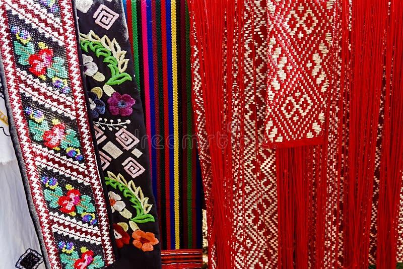 Materiały z romanian tradycyjnym embroidery-1 obraz stock