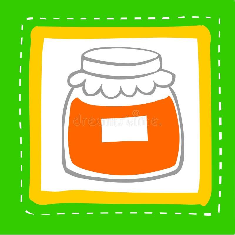 Materia de alimento stock de ilustración
