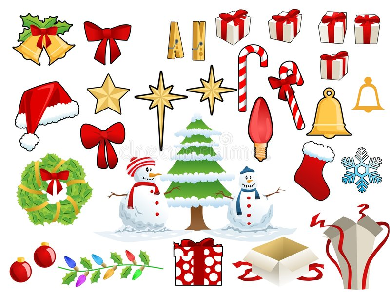 Materia de la Navidad stock de ilustración