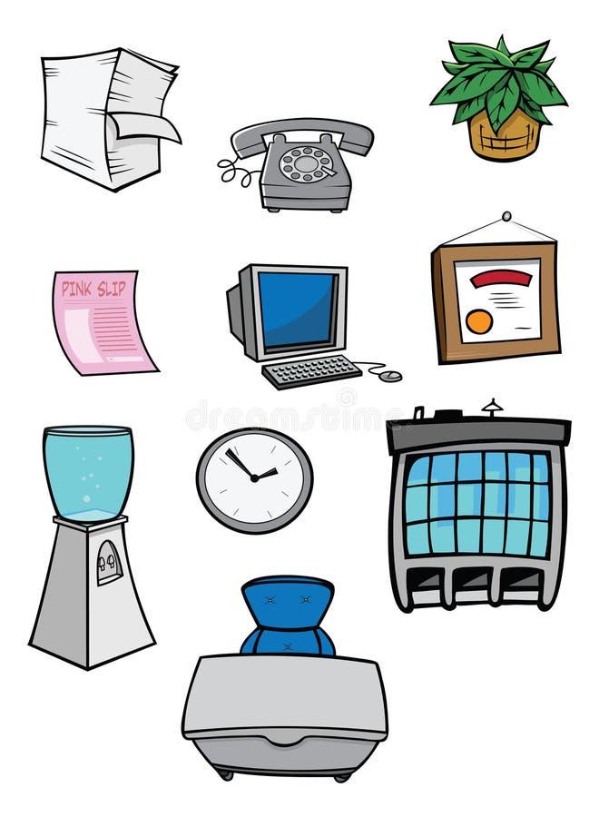 Materia de la oficina ilustración del vector
