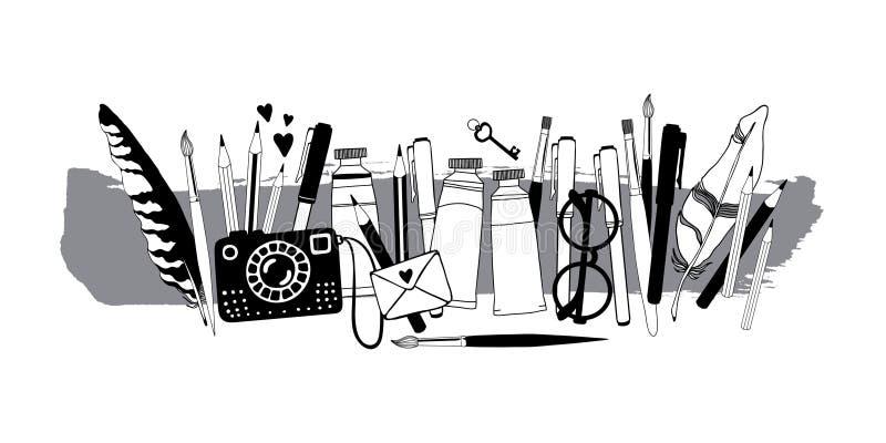 Materia del artista libre illustration