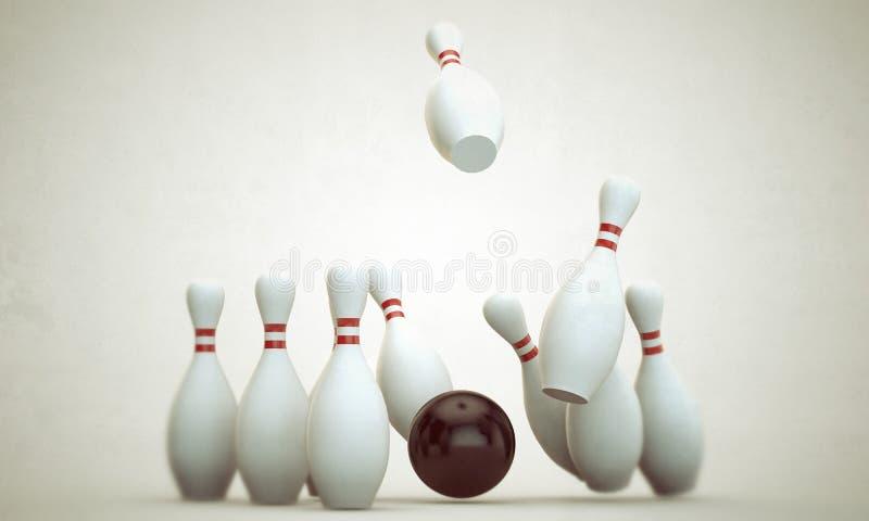 Materia del bowling ilustración del vector