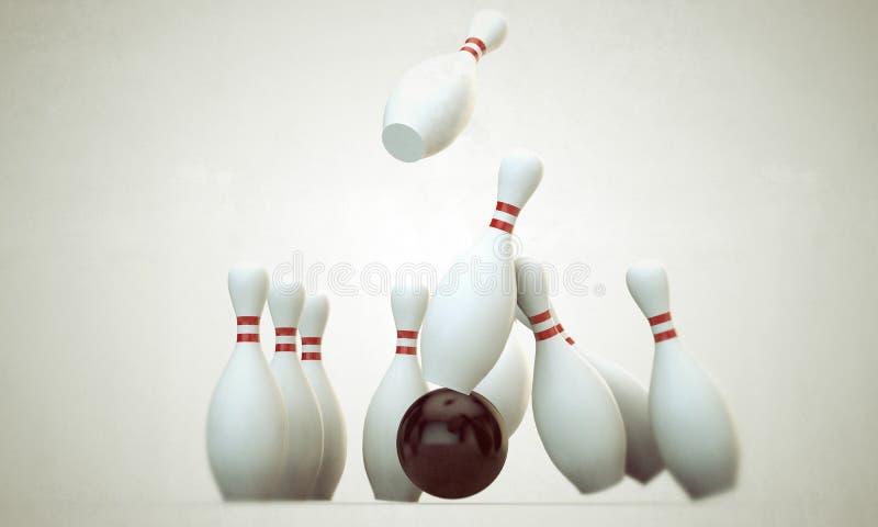 Materia del bowling stock de ilustración