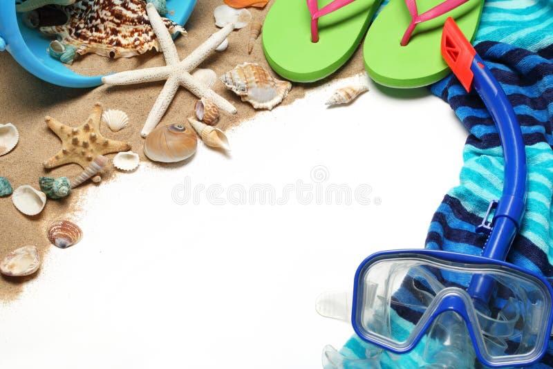Materia della spiaggia fotografia stock libera da diritti