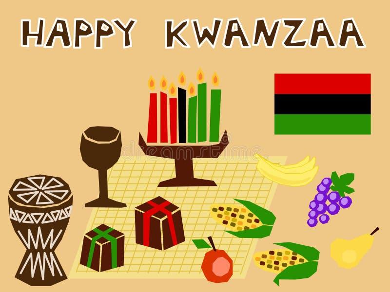Materia di Kwanzaa illustrazione di stock
