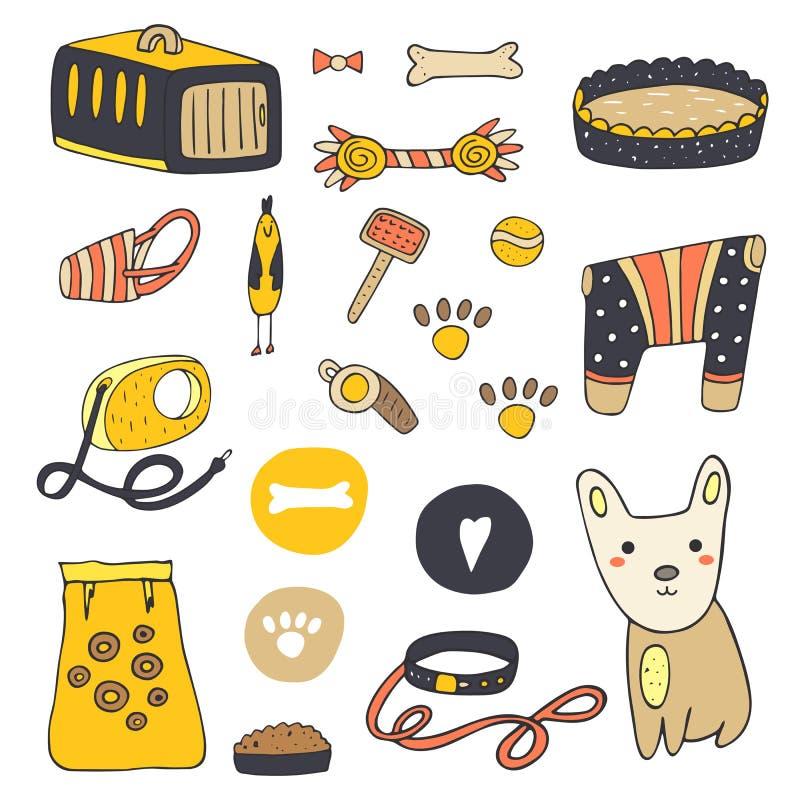 Materia dibujada mano linda del perro del garabato libre illustration