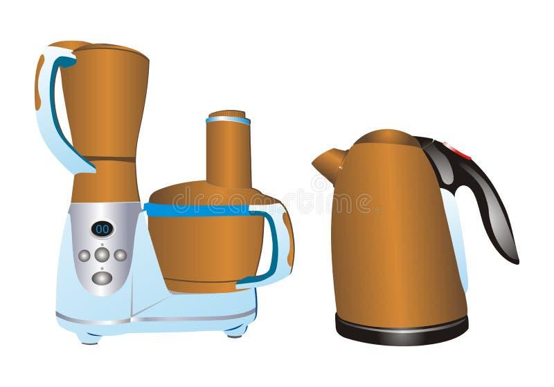 Materia elettrica della cucina illustrazione di stock