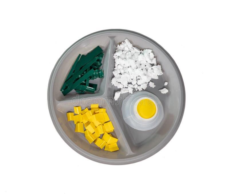 comida hecha con plastico