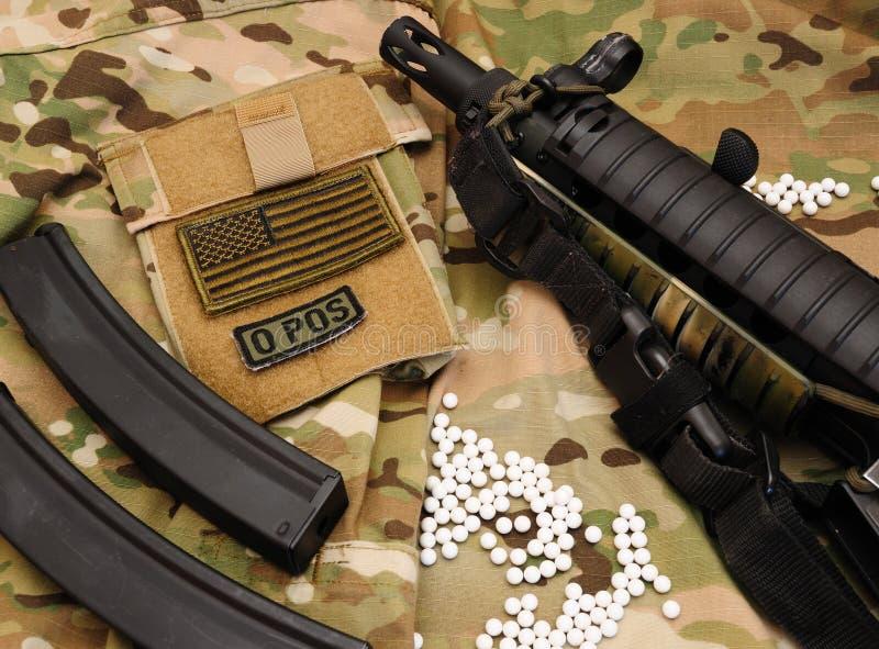 Materia militare 9 del airsoft immagine stock libera da diritti