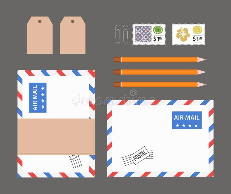 Materia plana de la oficina de la endecha stock de ilustración