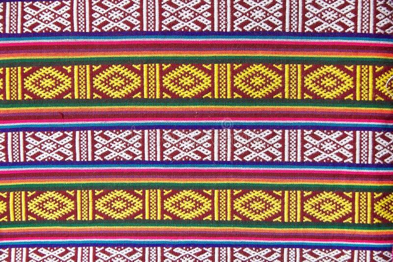 Materia textil de Bhután foto de archivo