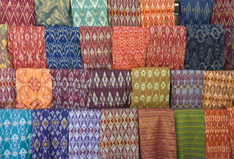 Materia textil de Lombok foto de archivo