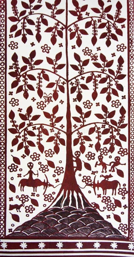 Materia textil de Torajan fotografía de archivo