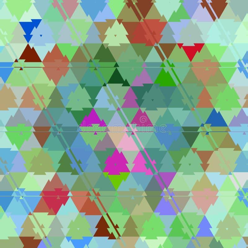 Materia textil del camuflaje del bebé del verano, fondo del triángulo ilustración del vector