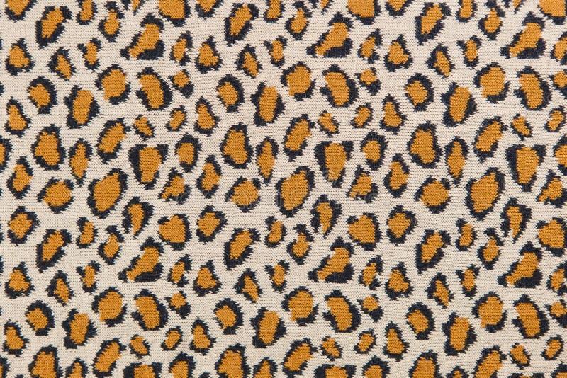 Materia textil hecha punto leopardo del primer imágenes de archivo libres de regalías