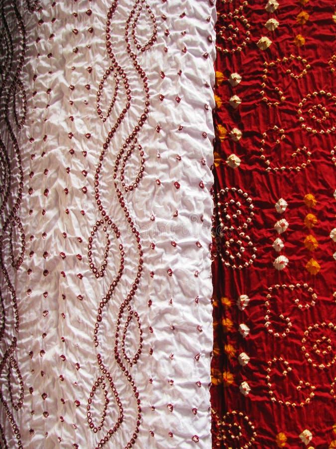 Materia textil india, primer foto de archivo