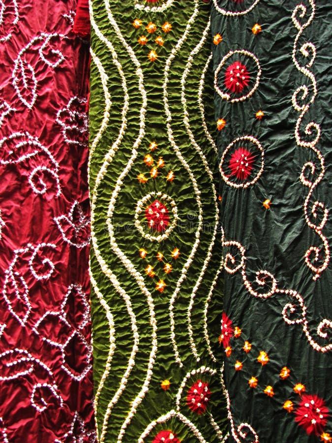 Materia textil india, primer imagen de archivo libre de regalías