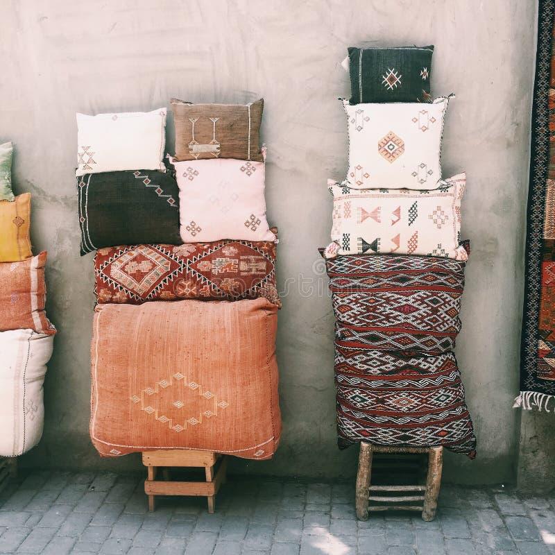 Materia textil marroquí foto de archivo libre de regalías