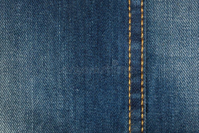 Materia textil - serie de la tela: Puntadas de los vaqueros fotografía de archivo libre de regalías